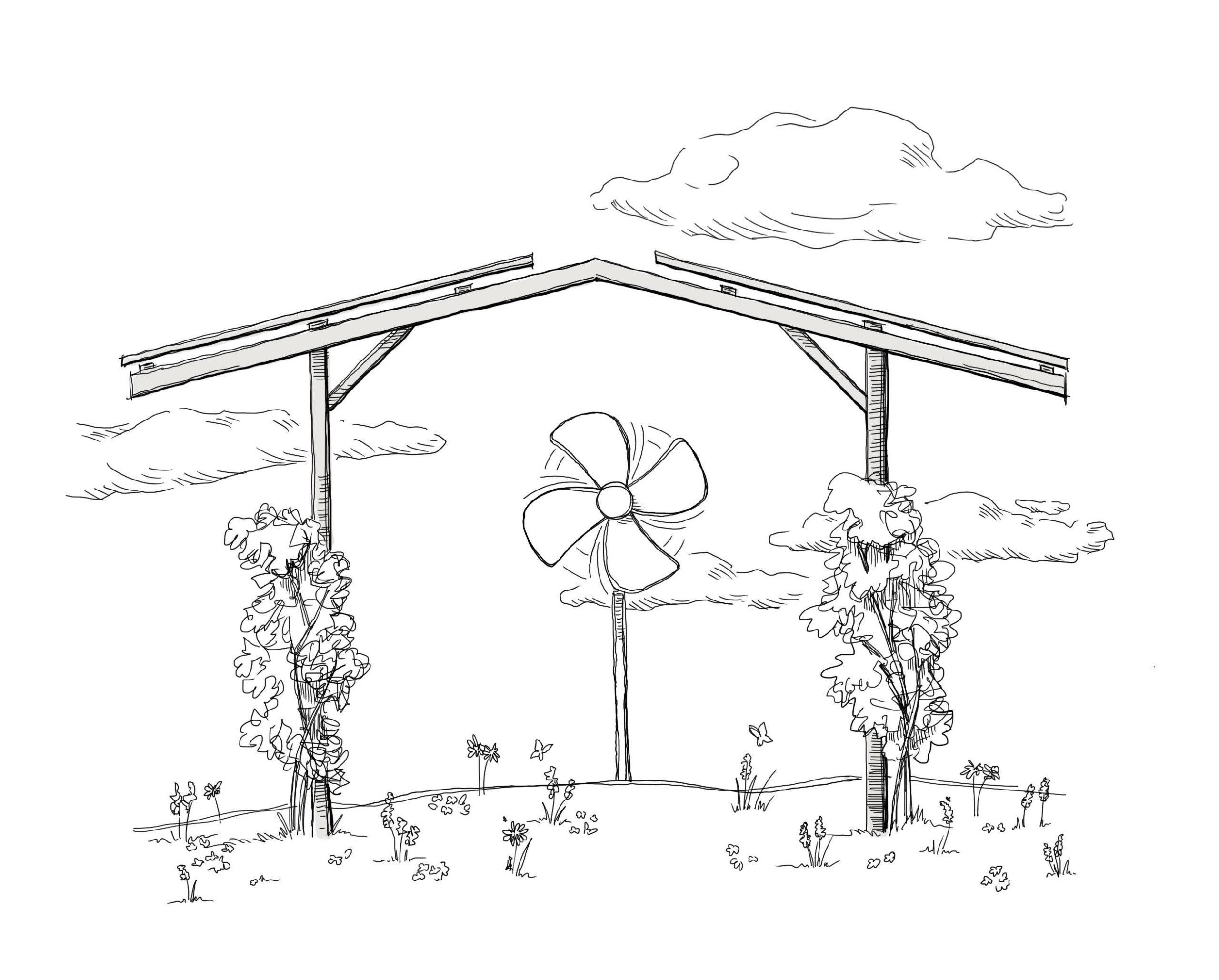 Vorteile-Agri-PV-Solardach-über-Agrarfläche Durchlüftung