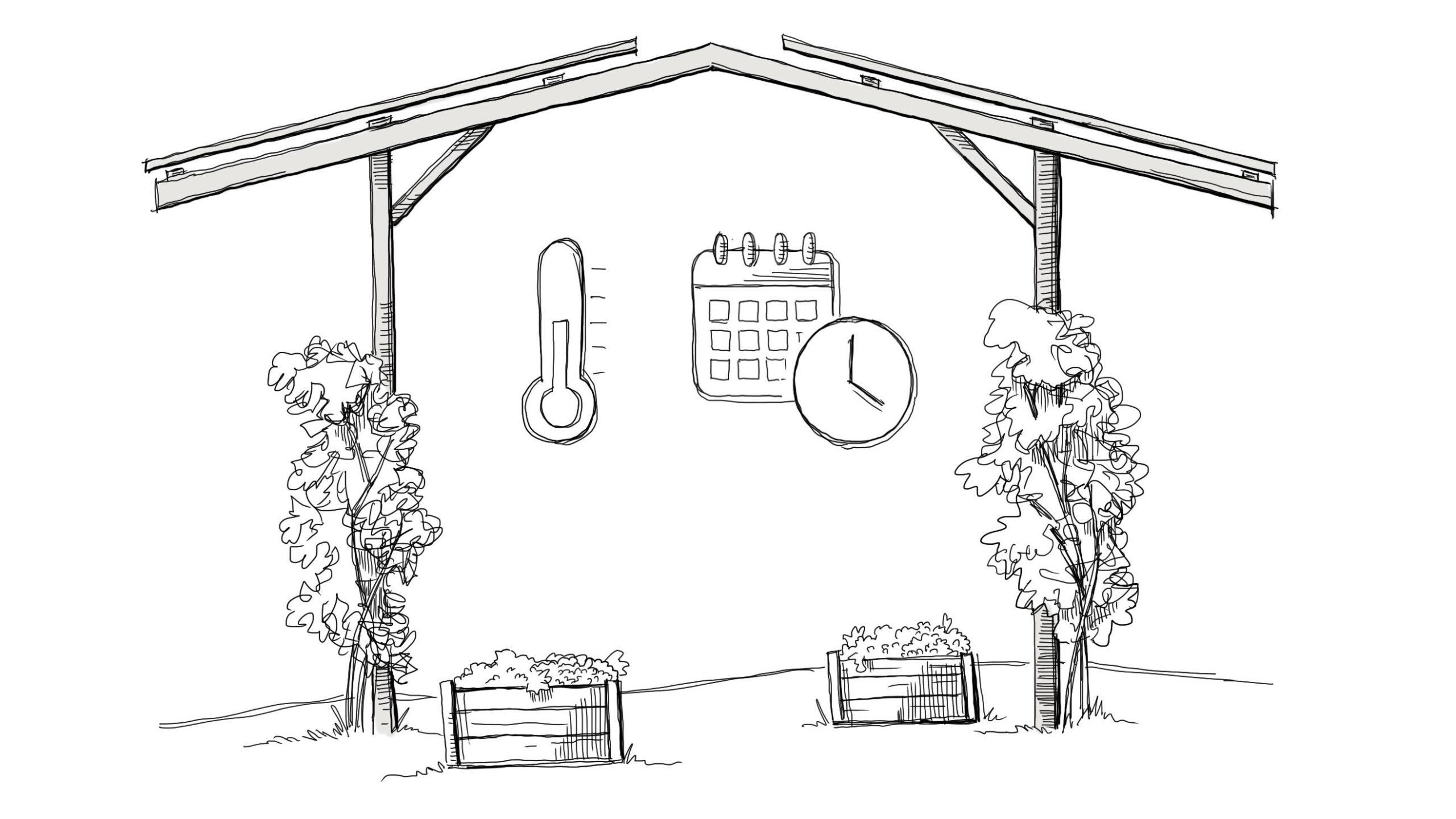 Vorteile Agri PV Solardach über Agrarfläche_ERnte